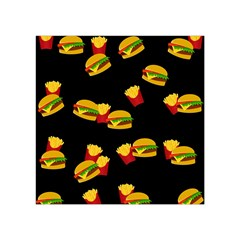 Hamburgers and french fries pattern Square Tapestry (Small)