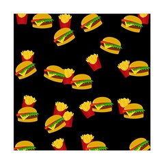 Hamburgers and french fries pattern Square Tapestry (Large)