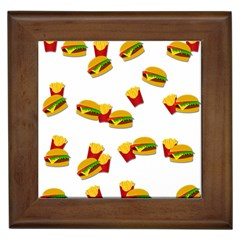 Hamburgers and french fries  Framed Tiles