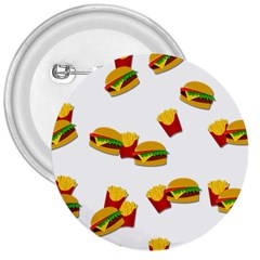 Hamburgers and french fries  3  Buttons