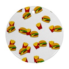 Hamburgers and french fries  Ornament (Round)