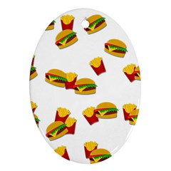 Hamburgers and french fries  Ornament (Oval)