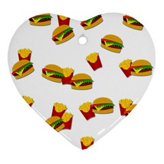 Hamburgers and french fries  Ornament (Heart)