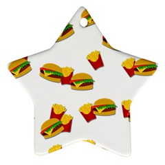 Hamburgers and french fries  Ornament (Star)