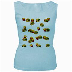 Hamburgers and french fries  Women s Baby Blue Tank Top