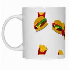 Hamburgers and french fries  White Mugs