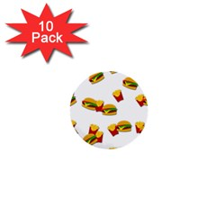 Hamburgers and french fries  1  Mini Buttons (10 pack)