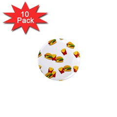 Hamburgers and french fries  1  Mini Magnet (10 pack)
