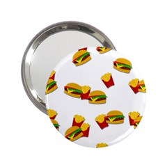 Hamburgers and french fries  2.25  Handbag Mirrors
