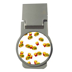 Hamburgers and french fries  Money Clips (Round)