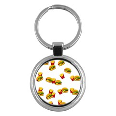 Hamburgers and french fries  Key Chains (Round)