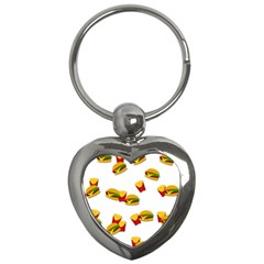 Hamburgers and french fries  Key Chains (Heart)