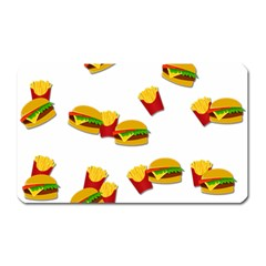 Hamburgers and french fries  Magnet (Rectangular)
