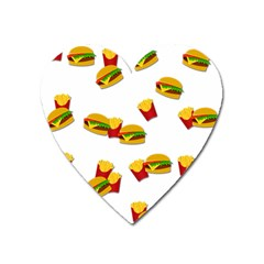 Hamburgers and french fries  Heart Magnet