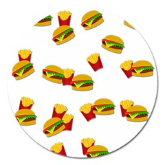 Hamburgers and french fries  Magnet 5  (Round)