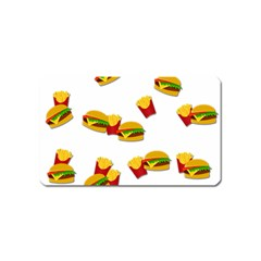 Hamburgers and french fries  Magnet (Name Card)