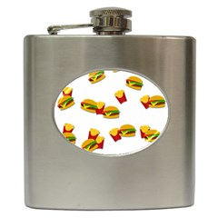 Hamburgers and french fries  Hip Flask (6 oz)