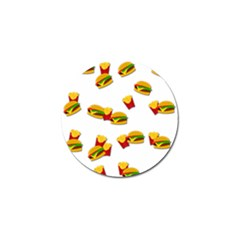 Hamburgers and french fries  Golf Ball Marker