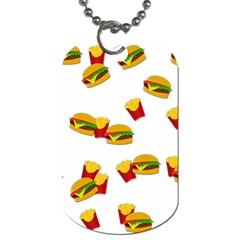 Hamburgers and french fries  Dog Tag (Two Sides)