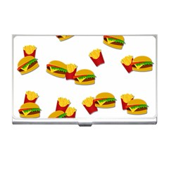 Hamburgers and french fries  Business Card Holders