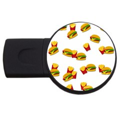 Hamburgers and french fries  USB Flash Drive Round (2 GB)