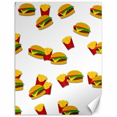 Hamburgers and french fries  Canvas 12  x 16