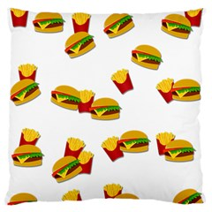 Hamburgers and french fries  Standard Flano Cushion Case (Two Sides)