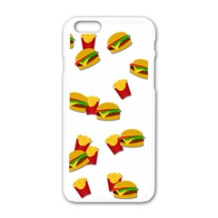 Hamburgers and french fries  Apple iPhone 6/6S White Enamel Case