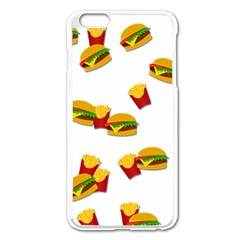 Hamburgers and french fries  Apple iPhone 6 Plus/6S Plus Enamel White Case