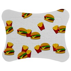 Hamburgers and french fries  Jigsaw Puzzle Photo Stand (Bow)