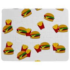 Hamburgers and french fries  Jigsaw Puzzle Photo Stand (Rectangular)