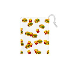 Hamburgers and french fries  Drawstring Pouches (XS)