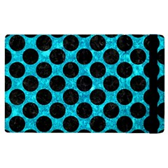 Circles2 Black Marble & Turquoise Marble (r) Apple Ipad 3/4 Flip Case
