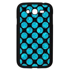 Circles2 Black Marble & Turquoise Marble Samsung Galaxy Grand Duos I9082 Case (black)