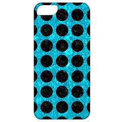 Circles1 Black Marble & Turquoise Marble (r) Apple Iphone 5 Classic Hardshell Case