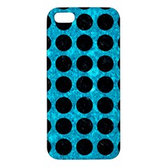 Circles1 Black Marble & Turquoise Marble (r) Apple Iphone 5 Premium Hardshell Case