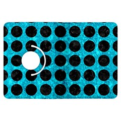 Circles1 Black Marble & Turquoise Marble (r) Kindle Fire Hdx Flip 360 Case