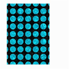 Circles1 Black Marble & Turquoise Marble Large Garden Flag (two Sides)
