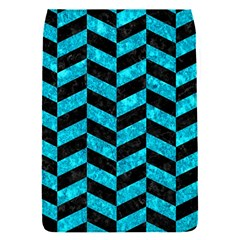 Chevron1 Black Marble & Turquoise Marble Removable Flap Cover (s)