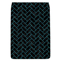 Brick2 Black Marble & Turquoise Marble Removable Flap Cover (s)
