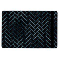 Brick2 Black Marble & Turquoise Marble Apple Ipad Air Flip Case