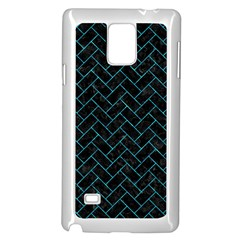 Brick2 Black Marble & Turquoise Marble Samsung Galaxy Note 4 Case (white)
