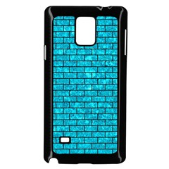 Brick1 Black Marble & Turquoise Marble (r) Samsung Galaxy Note 4 Case (black)