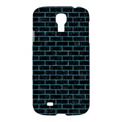 Brick1 Black Marble & Turquoise Marble Samsung Galaxy S4 I9500/i9505 Hardshell Case