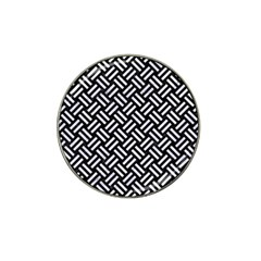 Woven2 Black Marble & White Marble Hat Clip Ball Marker