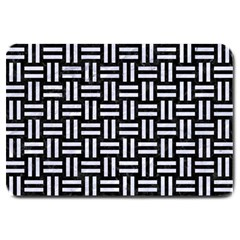 Woven1 Black Marble & White Marble Large Doormat