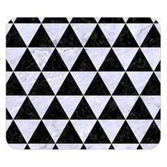 Triangle3 Black Marble & White Marble Double Sided Flano Blanket (small)
