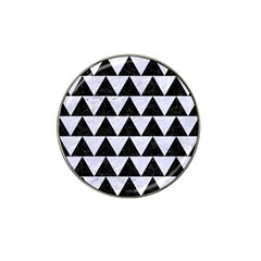 Triangle2 Black Marble & White Marble Hat Clip Ball Marker