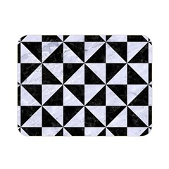 Triangle1 Black Marble & White Marble Double Sided Flano Blanket (mini)