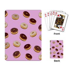 Donuts pattern - pink Playing Card